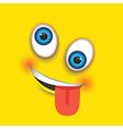 crazy square emoji vector image vector image