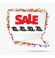 creative sale tag or paper banner abstract vector image vector image