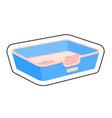 dog bed cartoon sticker vector image