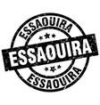 essaouira black round grunge stamp vector image vector image