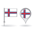 faroe islands pin icon and map pointer flag vector image vector image