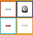 flat icon electronics set of memory hdd resistor vector image vector image