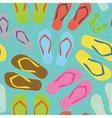 Flip flops pattern vector image vector image
