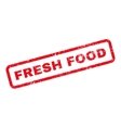 Fresh Food Text Rubber Stamp vector image vector image