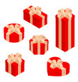 gift boxes presents isolated on white vector image vector image