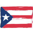 grunge puerto rico flag or banner vector image vector image