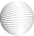 halftone globe desing vector image vector image