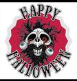 Halloween dead horror zombie skull design vector image