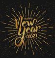 happy new year 2021 handlettering in black vector image