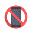 icon prohibiting the use of a mobile phone vector image