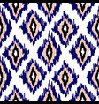 ikat ogee seamless pattern background vector image vector image
