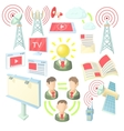 Internet icons set cartoon ctyle vector image