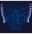 luminous Angel on a dark background vector image vector image