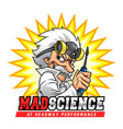 mad science professor vector image