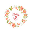march 8 womens day greeting card vector image vector image