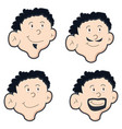 mens face vector image