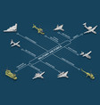 military air forces isometric flowchart vector image vector image