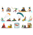 modern sports and entertainments set vector image vector image