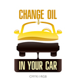 Oil Change in Your Car vector image