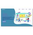 online platform concept vector image