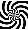 pattern with optical black white vector image