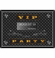 poster with a gold inscription vip party vector image vector image