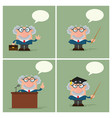 professor or scientist collection- 4 vector image vector image