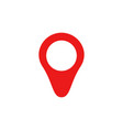 red map pin icon in flat style pointer symbol vector image vector image