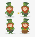 saint patrick national irish holiday - set vector image vector image
