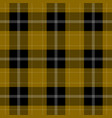 seamless black yellow tartan with white stripes vector image vector image