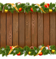 Seamless Christmas Board with Decorations vector image vector image