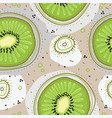 seamless pattern witn kiwi fruit dots and vector image vector image