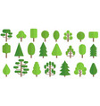 set trees icon in flat style vector image