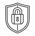 shield protect security icon outline style vector image