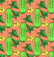 Sketch cucumbers in vintage style vector image vector image