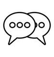 speech bubbles talk vector image