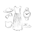 Summer clothes for woman vector image vector image
