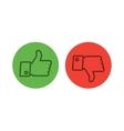 Thumb up icons set