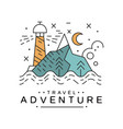 travel adventure logo design sea cruise emblem vector image vector image