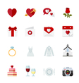 Wedding and Love Icons vector image vector image