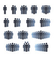 workgroup with leader sign set people group icons vector image vector image