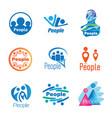 people logo set vector image