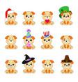 twelve emoji dogs vector image