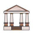 greek building design vector image