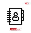 agenda icon vector image