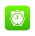 alarm clock icon digital green vector image vector image