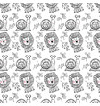 animal pattern background vector image