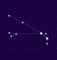 aries constellation starry night sky cluster of vector image