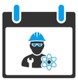 Atomic Engineer Calendar Day Toolbar Icon vector image vector image