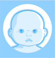 baby face vector image